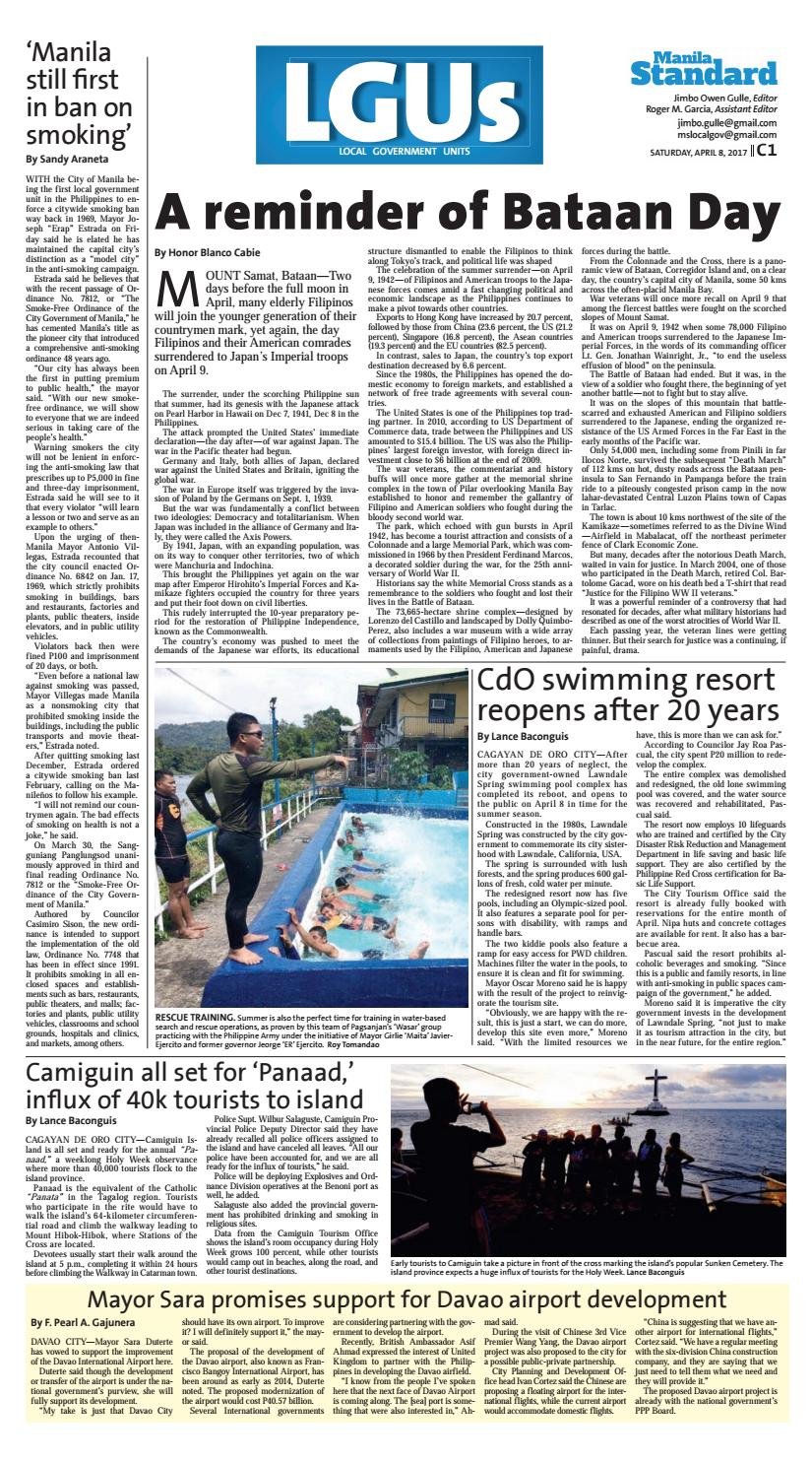 Manila Standard - 2017 April 08 - Saturday by Manila