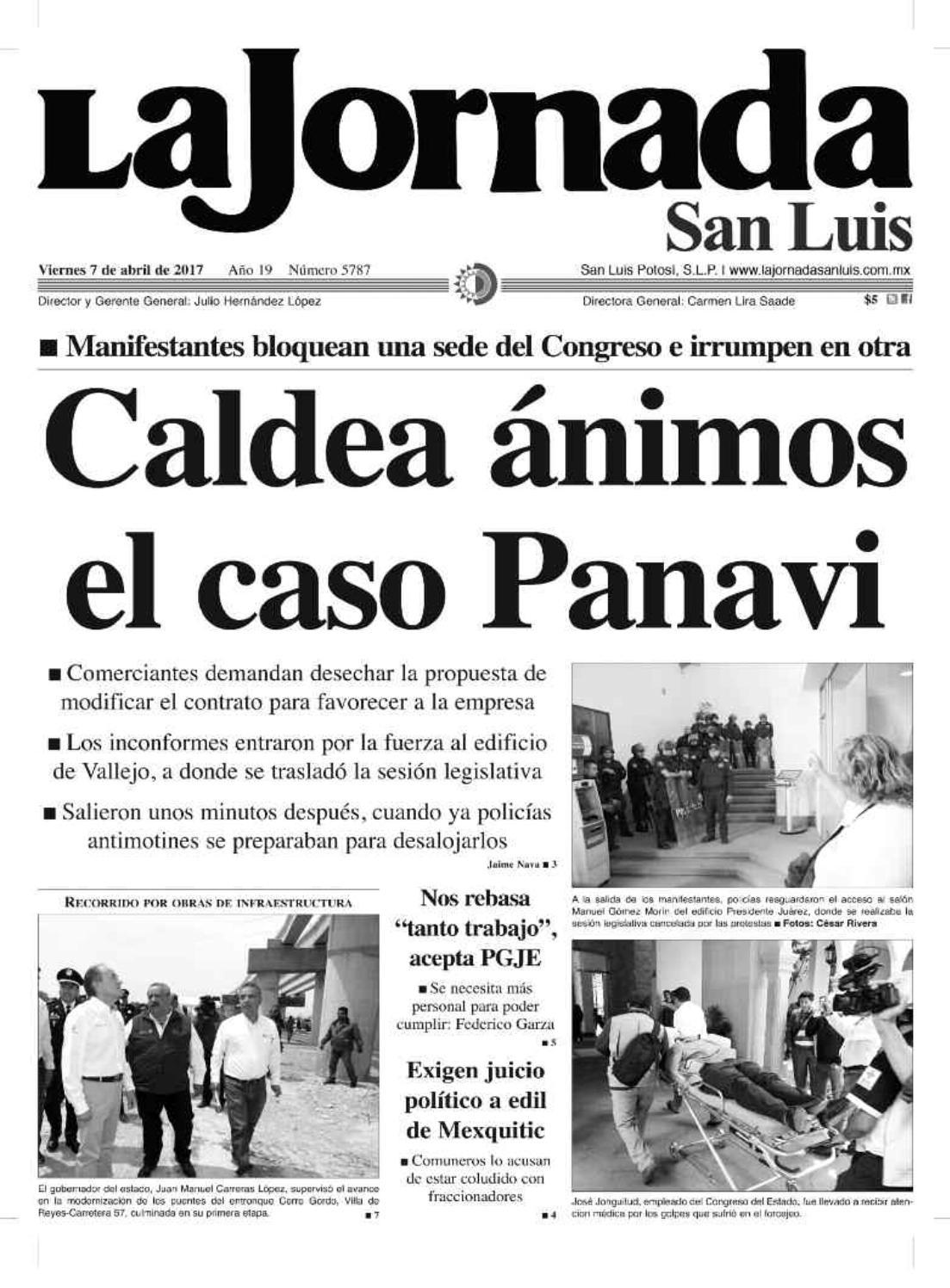 Caldea ánimos el caso Panavi by La Jornada San Luis - issuu