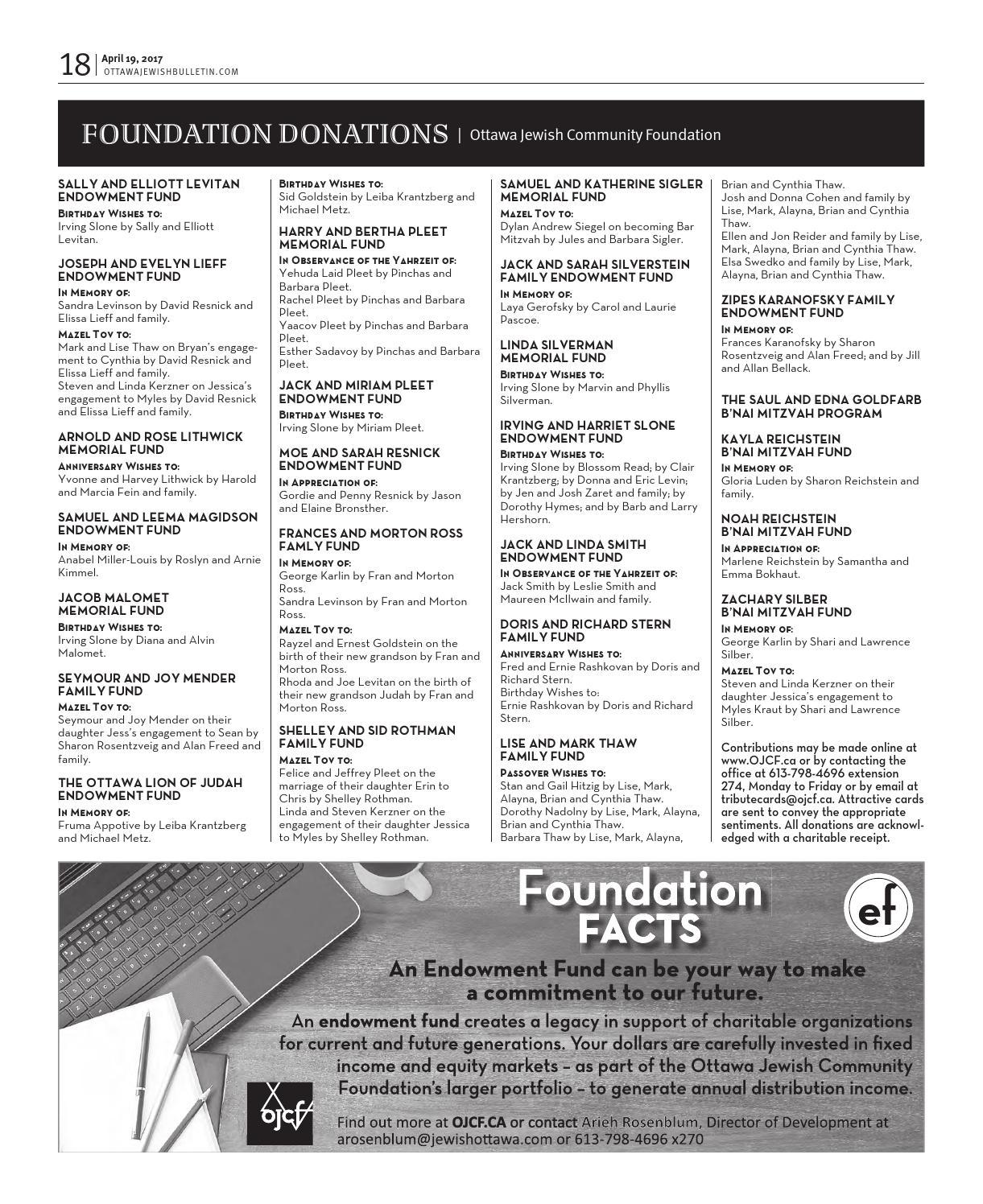 Ottawa Jewish Bulletin 2017 04 19 By The