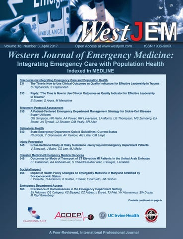 Volume 18 Issue 3 by Western Journal of Emergency Medicine - issuu