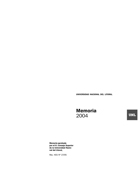 Memoria institucional 2004 by Universidad Nacional del Litoral - issuu