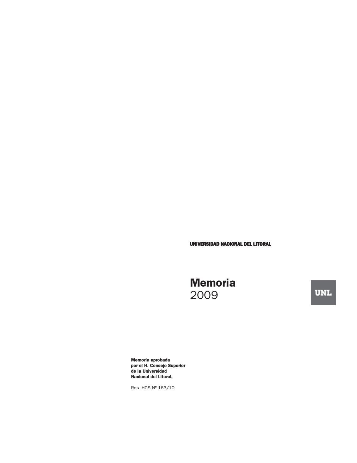 c41832bc7f Memoria institucional 2009 by Universidad Nacional del Litoral - issuu