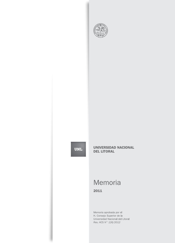 Memoria institucional 2011 by Universidad Nacional del Litoral - issuu