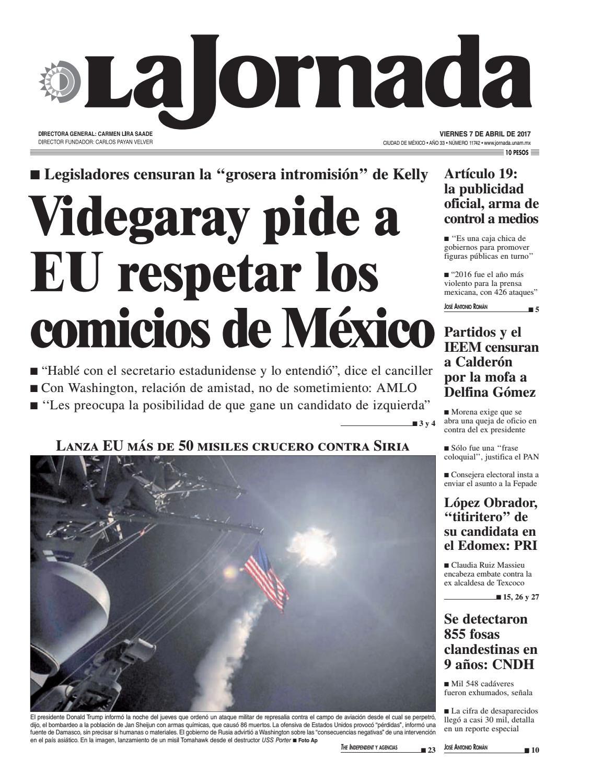 La Jornada, 04/07/2017 by La Jornada: DEMOS Desarrollo de Medios ...