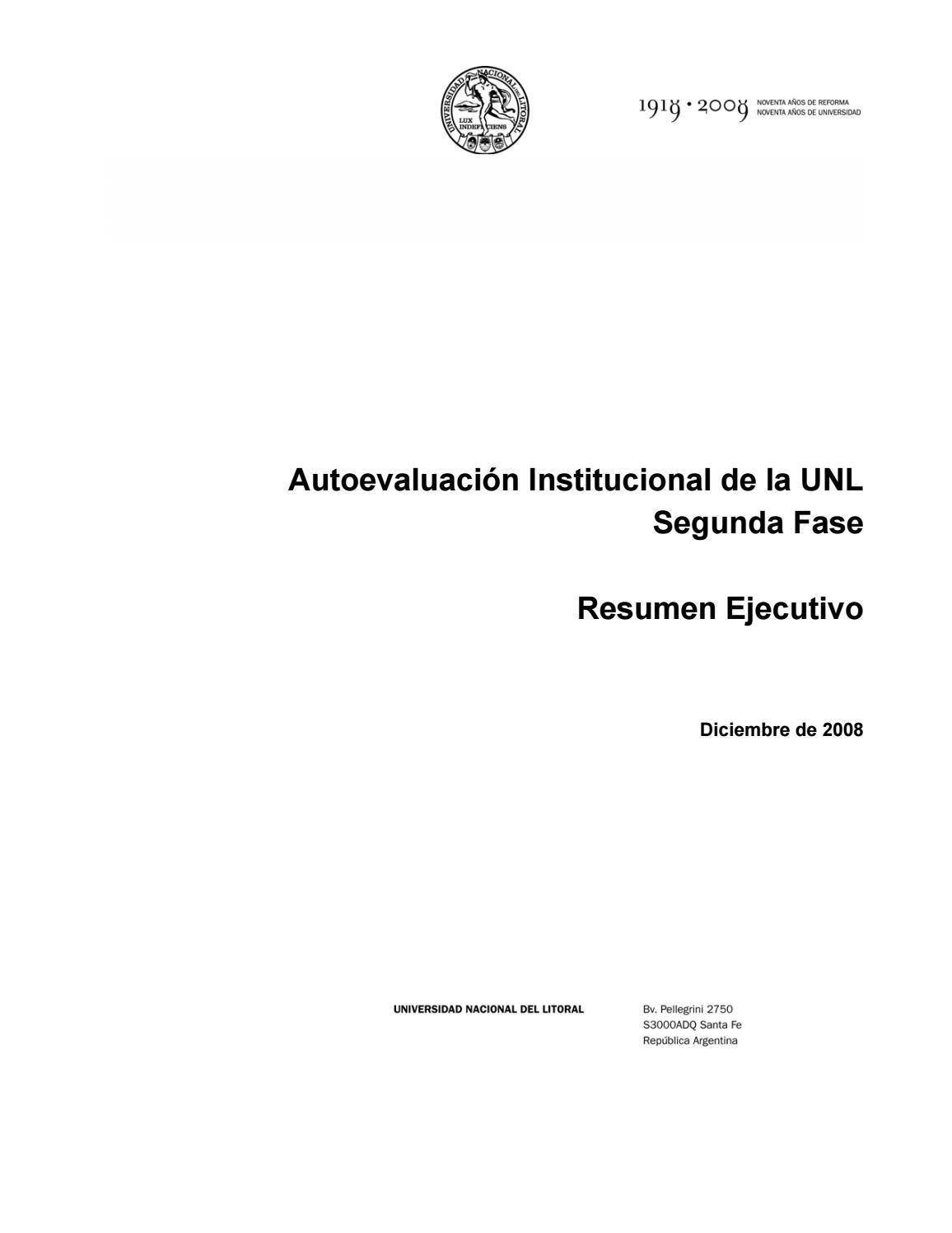 Unl resumen ejecutivo segunda fase a by Universidad Nacional del ...