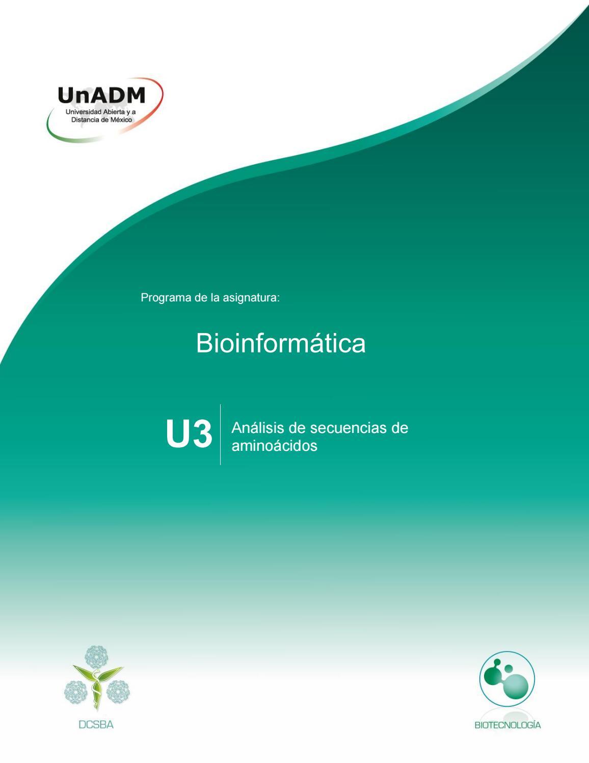 Unidad 3. Análisis de secuencias de aminoácidos by Jazina Ruiz ...