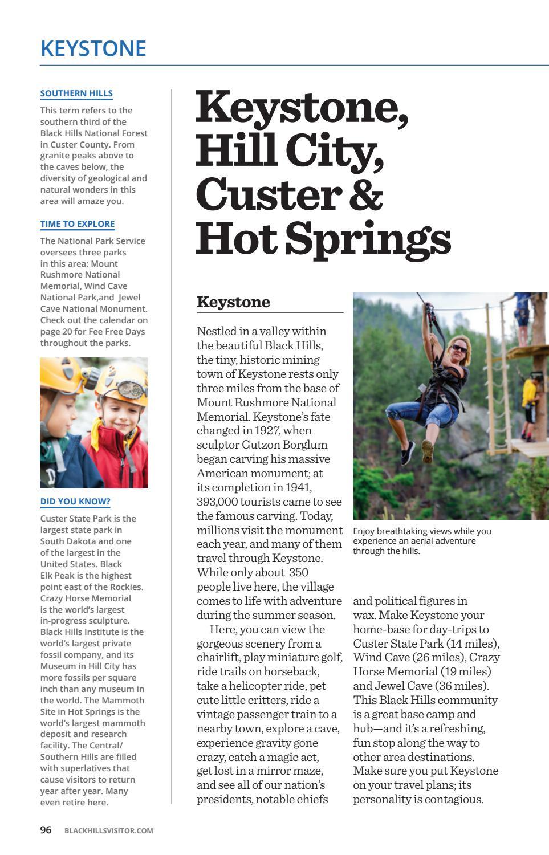 Black Hills Visitor Magazine - Spring/Summer 2017 by