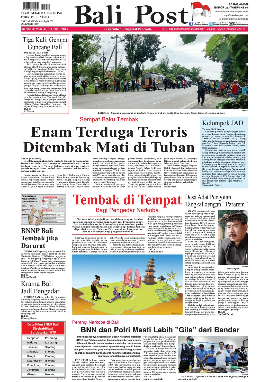 Edisi 09 April 2017 Balipost Com By E Paper Kmb Issuu