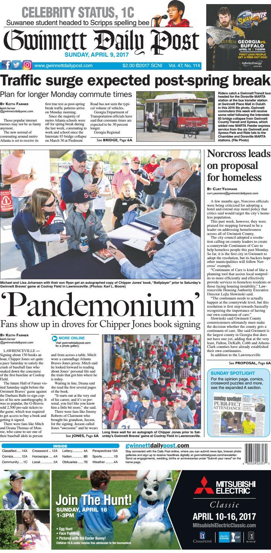 April 9 2017 Gwinnett Daily Post By