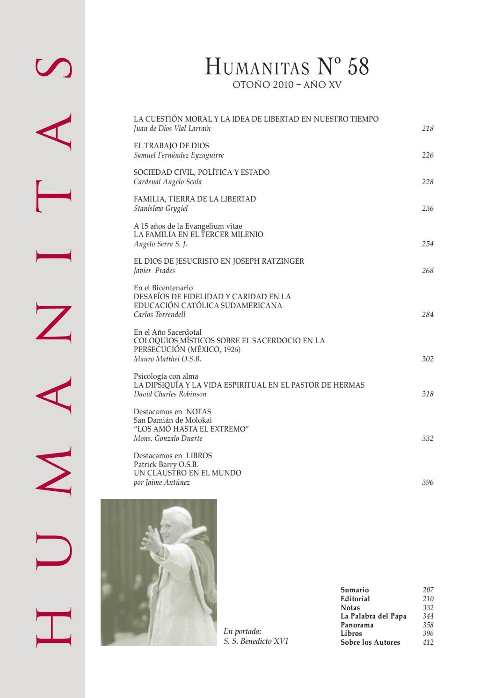 HUMANITAS 58 by Revista Humanitas - issuu
