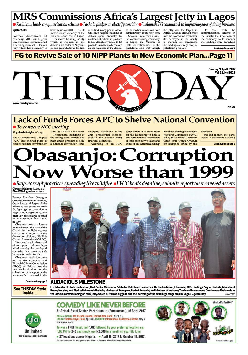 sunday 9th april 2017 by thisday newspapers ltd - issuu