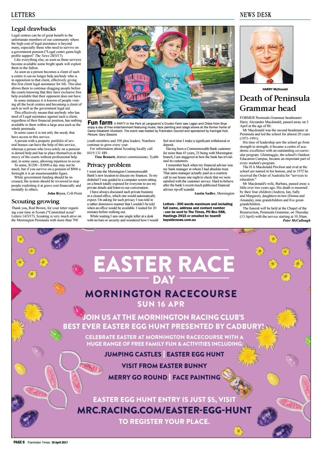 10 april 2017 by mornington peninsula news group issuu negle Choice Image