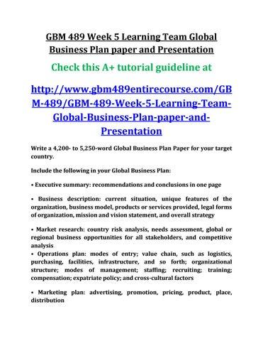 planning of international business