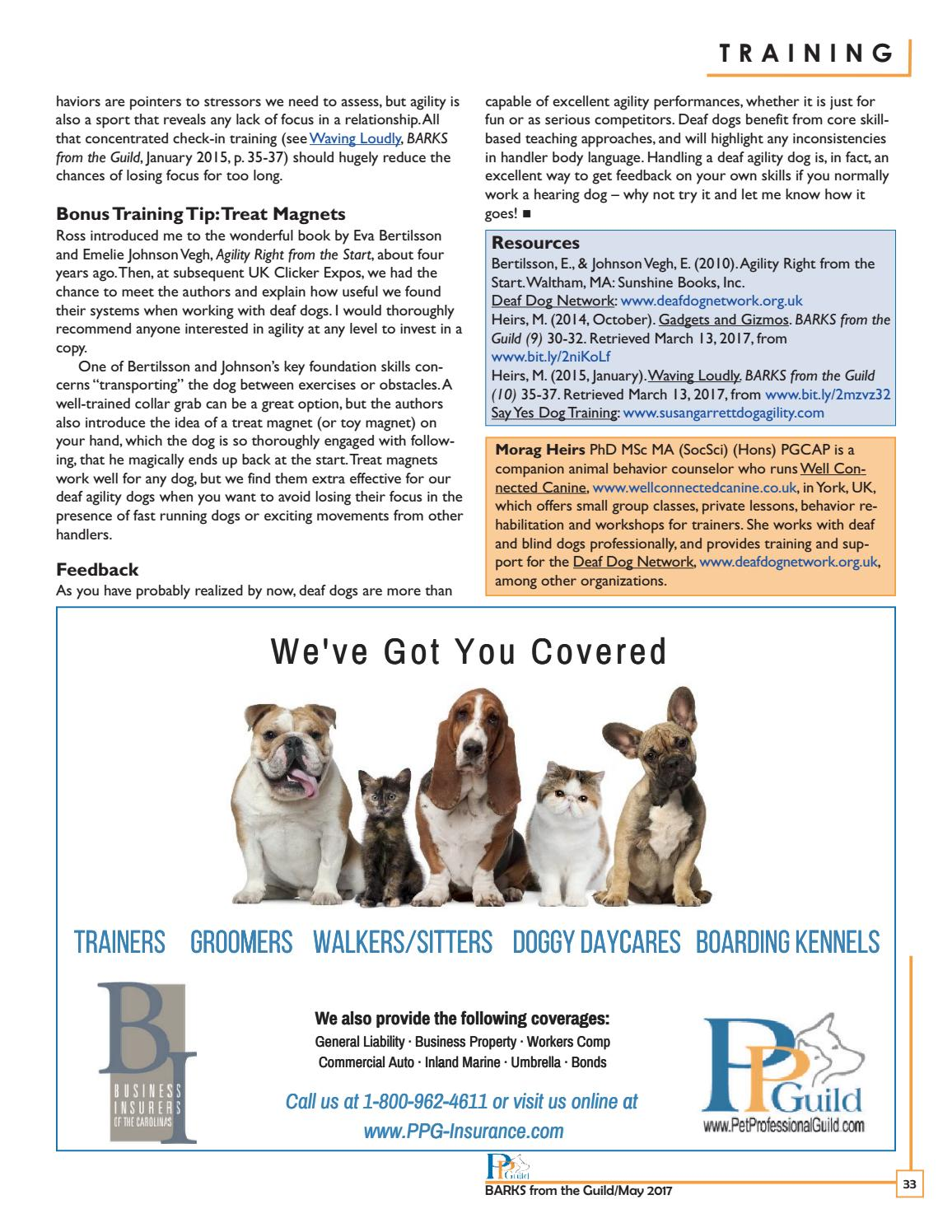 Barks From The Guild May 2017 By The Pet Professional Guild Issuu
