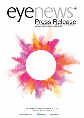 Eye News April / May 2017 Press Release by PRs in Pinpoint