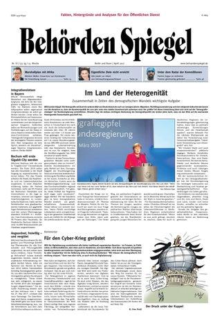 Behörden Spiegel April 2017 by propress - issuu