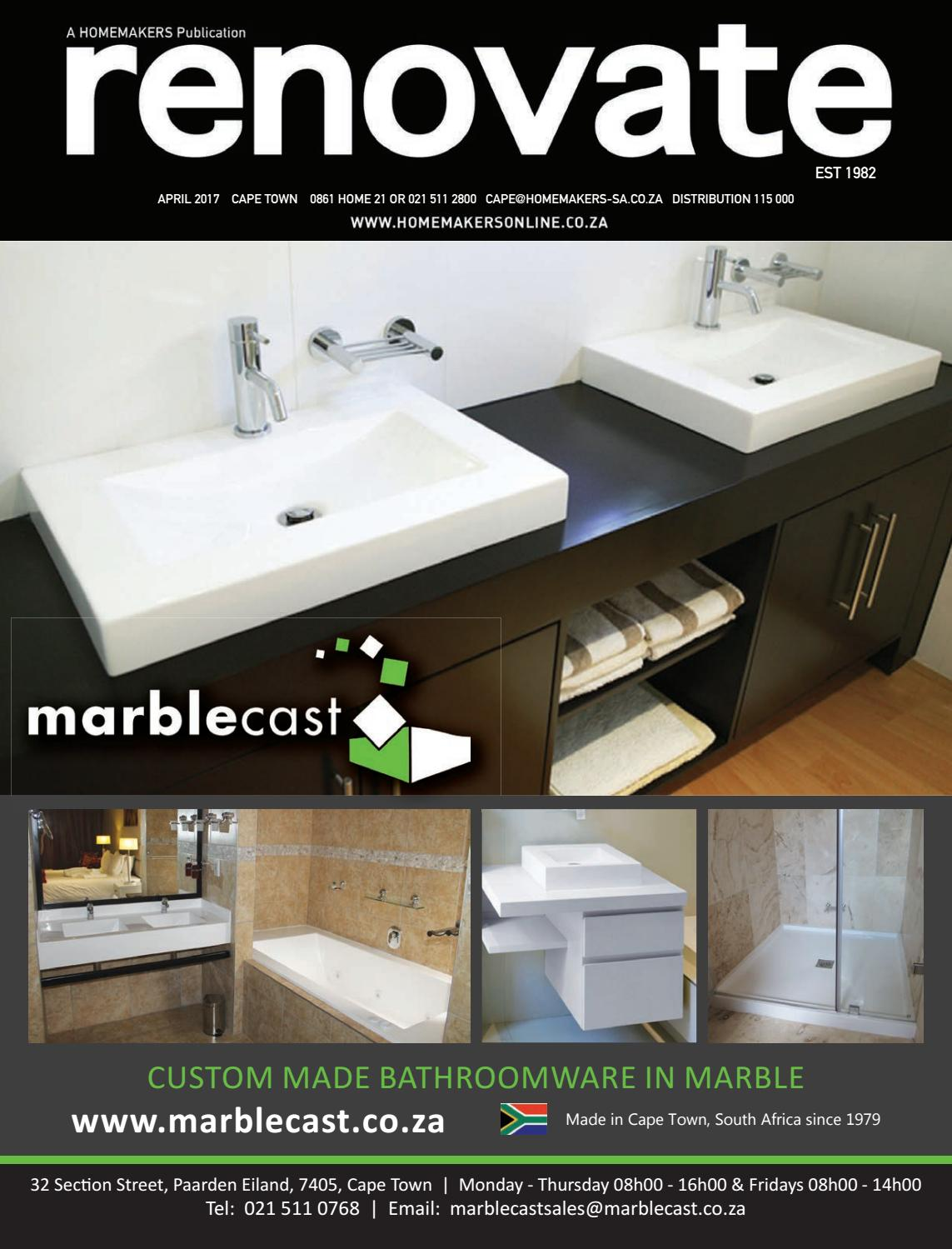 Bathroom Renovations Durbanville renovate, cape town april 2017homemakers - issuu