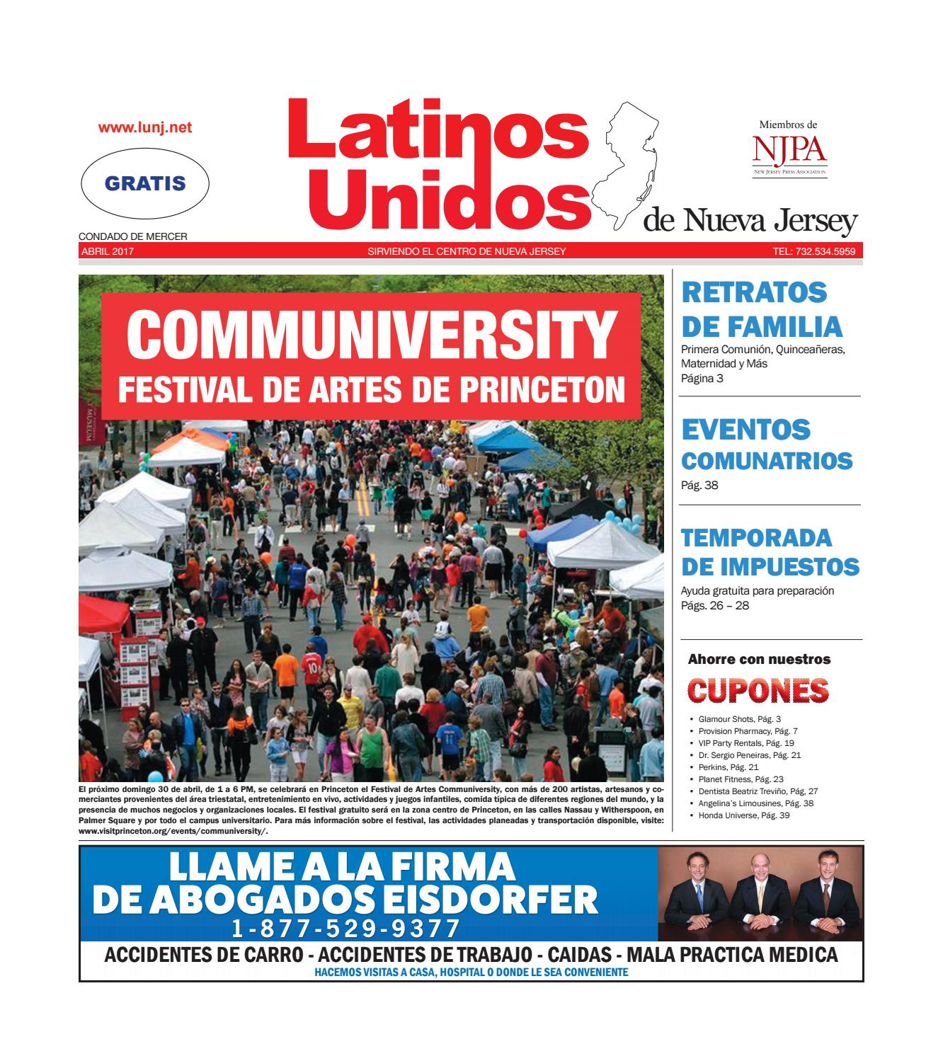 Mercer Abril/April 2017 by Latinos Unidos de NJ - issuu