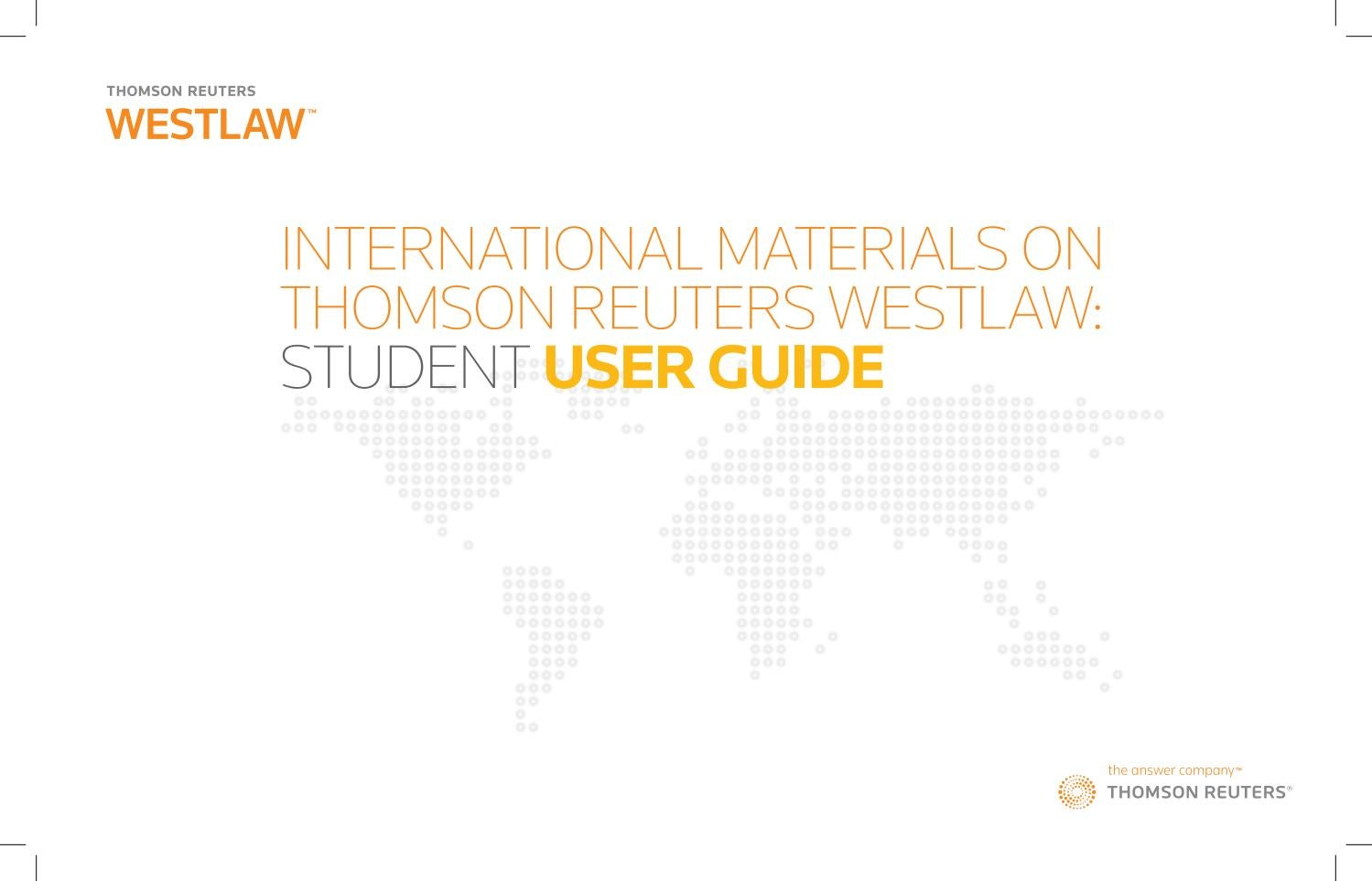 Thomson Reuters Westlaw Student User Guide 2017 by Newcastle