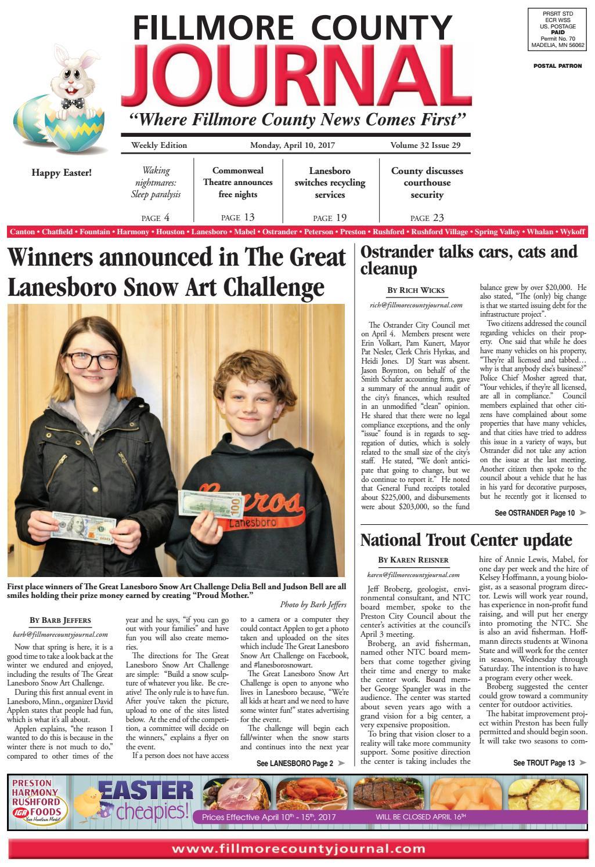 Fillmore County Journal - 4.10.17 by Jason Sethre - issuu e932eb7e85064