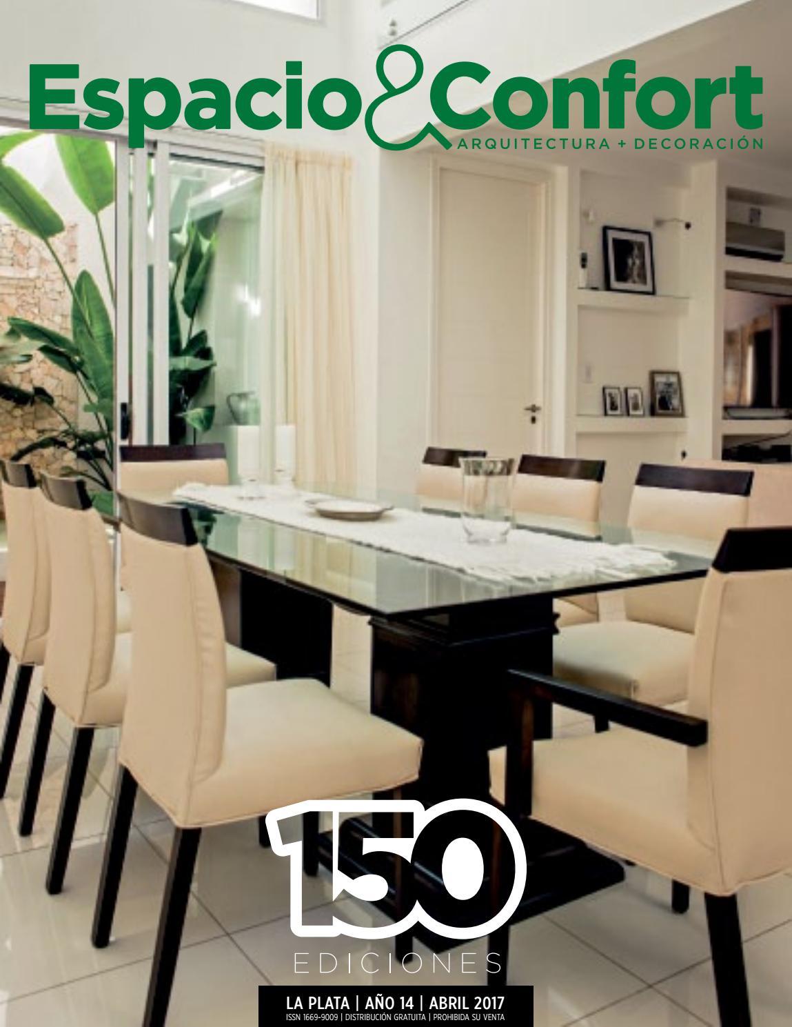 150 Lp Abril 2017 By Revista Espacio Confort Arquitectura  # Muebles Luberto Mar Del Plata