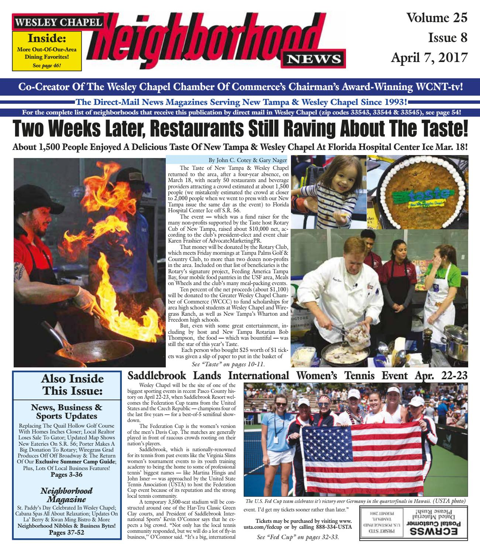 Wesley Chapel Neighborhood News Volume 25 Issue 8 April 7 2017