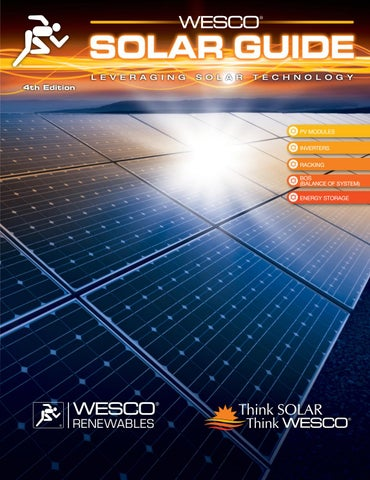 WESCO Solar Guide - 4th Edition by WESCO Distribution - issuu