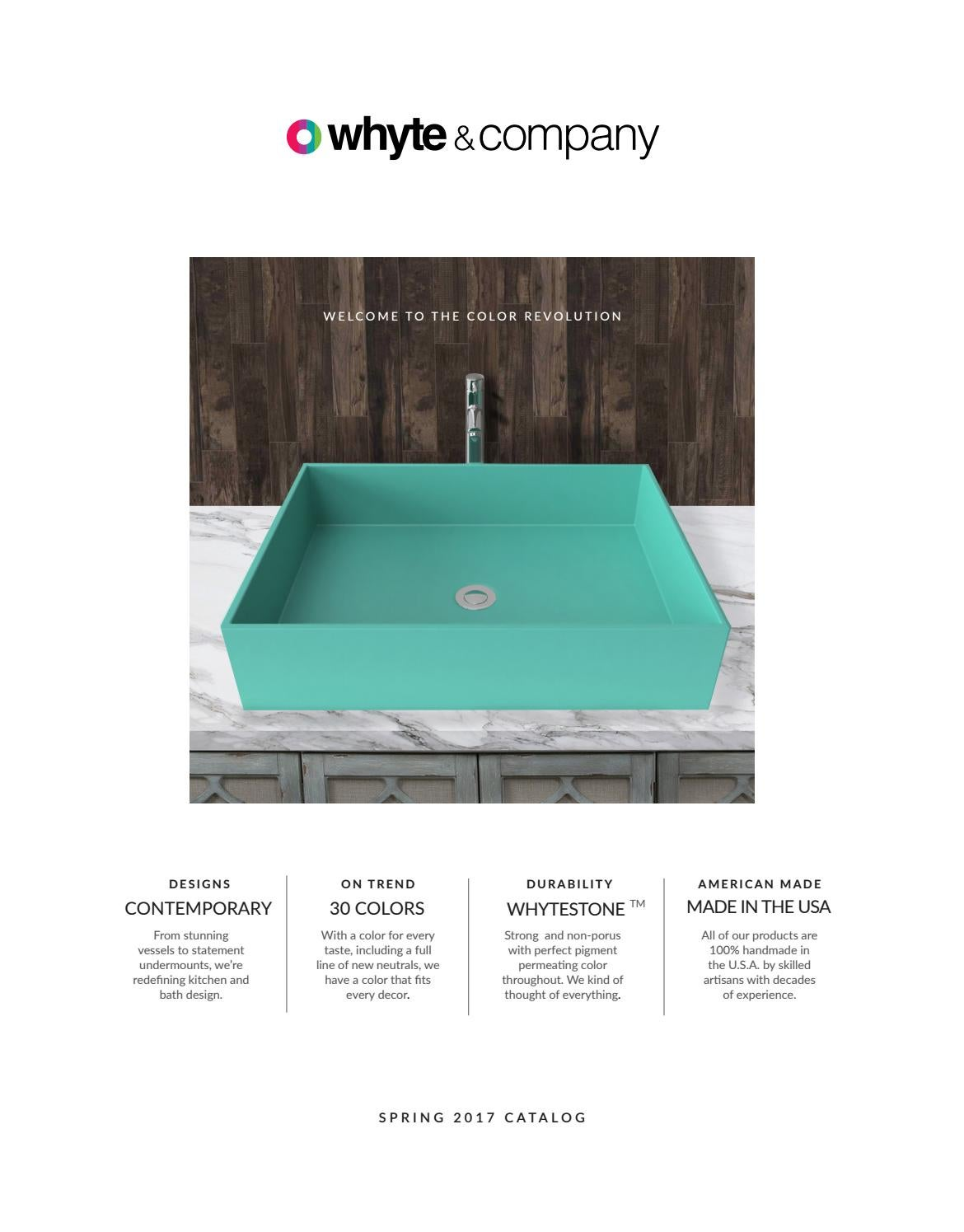 Whyte & Company Spring 2017 Catalog - stone composite sinks by tnspi ...