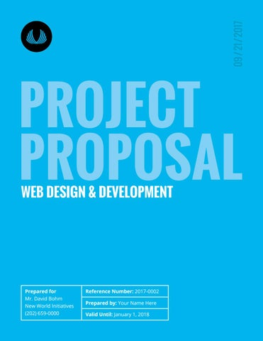 Design Project Proposal Template By Land Issuu