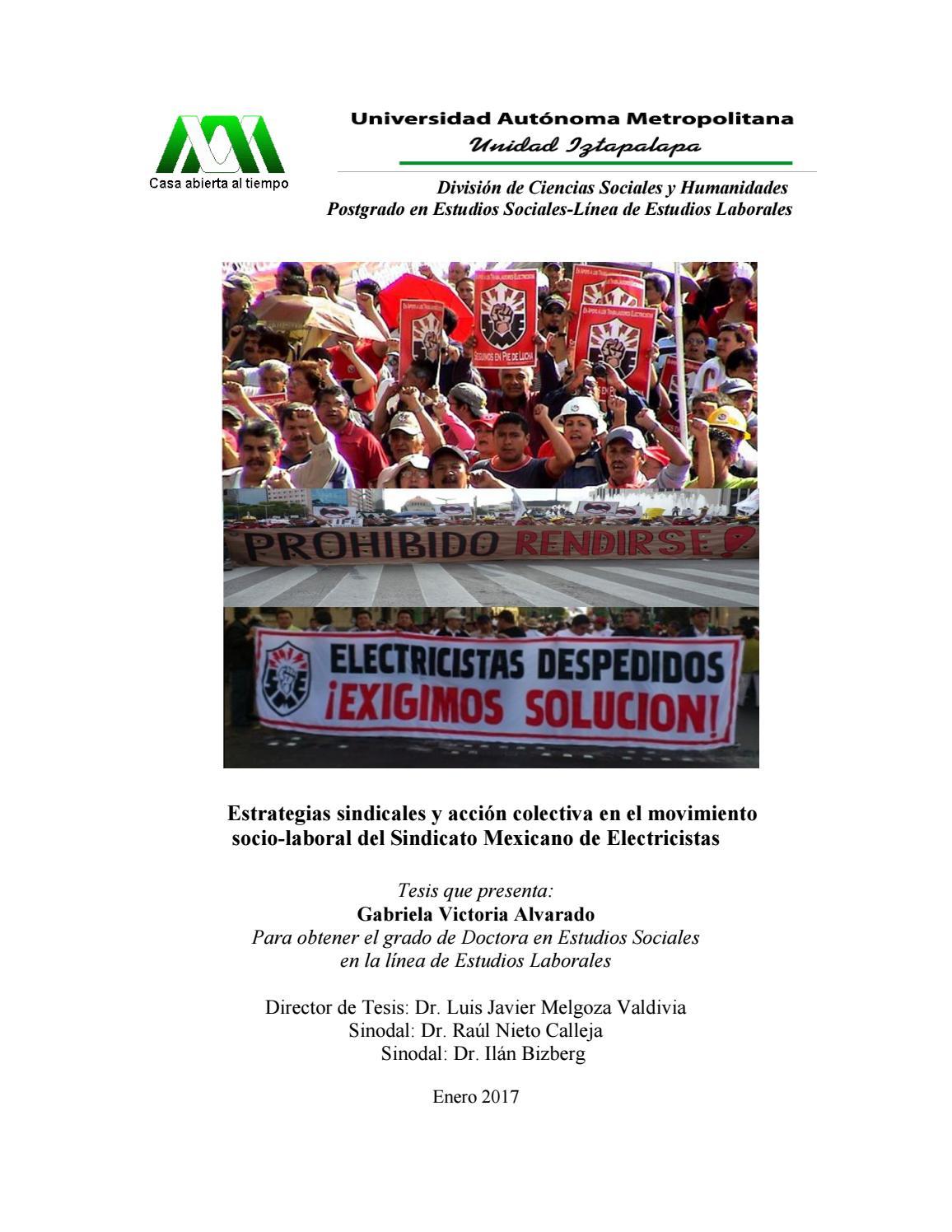 Estrategias sindicales y acción colectiva en el movimiento socio ...