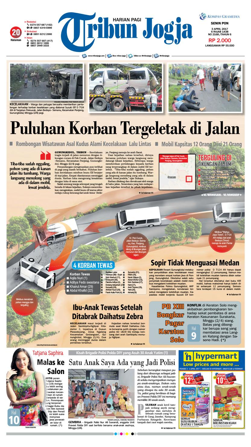 Tribunjogja 03 04 2017 By Tribun Jogja Issuu Produk Ukm Bumn Batik Tulis Warna Alam Ra Ampamp