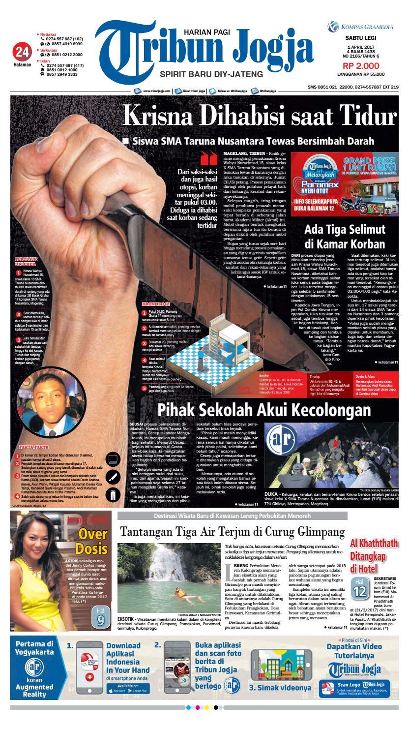 Tribunjogja 01 04 2017 By Tribun Jogja Issuu Snack Gayem Pangsit Bantal Imut Bdg