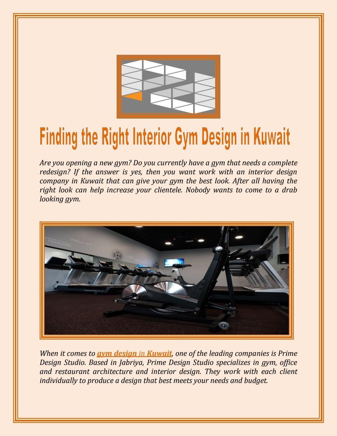 Finding The Right Interior Gym Design In Kuwait By Roylee Issuu