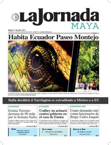 fb0779dd9063c La Jornada Maya · Martes 11 de abril