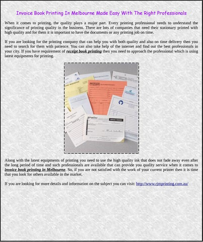 Invoice Book Printing In Melbourne Made Easy With The Right - How to use an invoice book