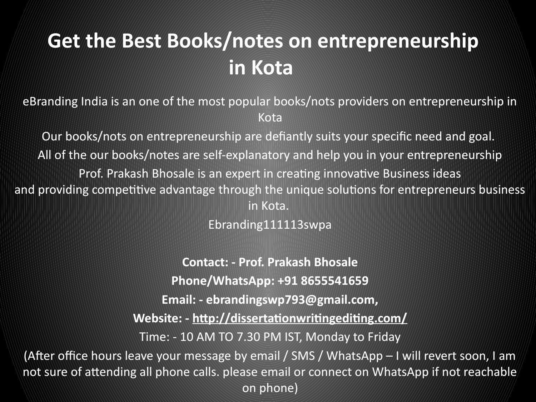 1get The Best Books Notes On Entrepreneurship In Kota By Prakash10