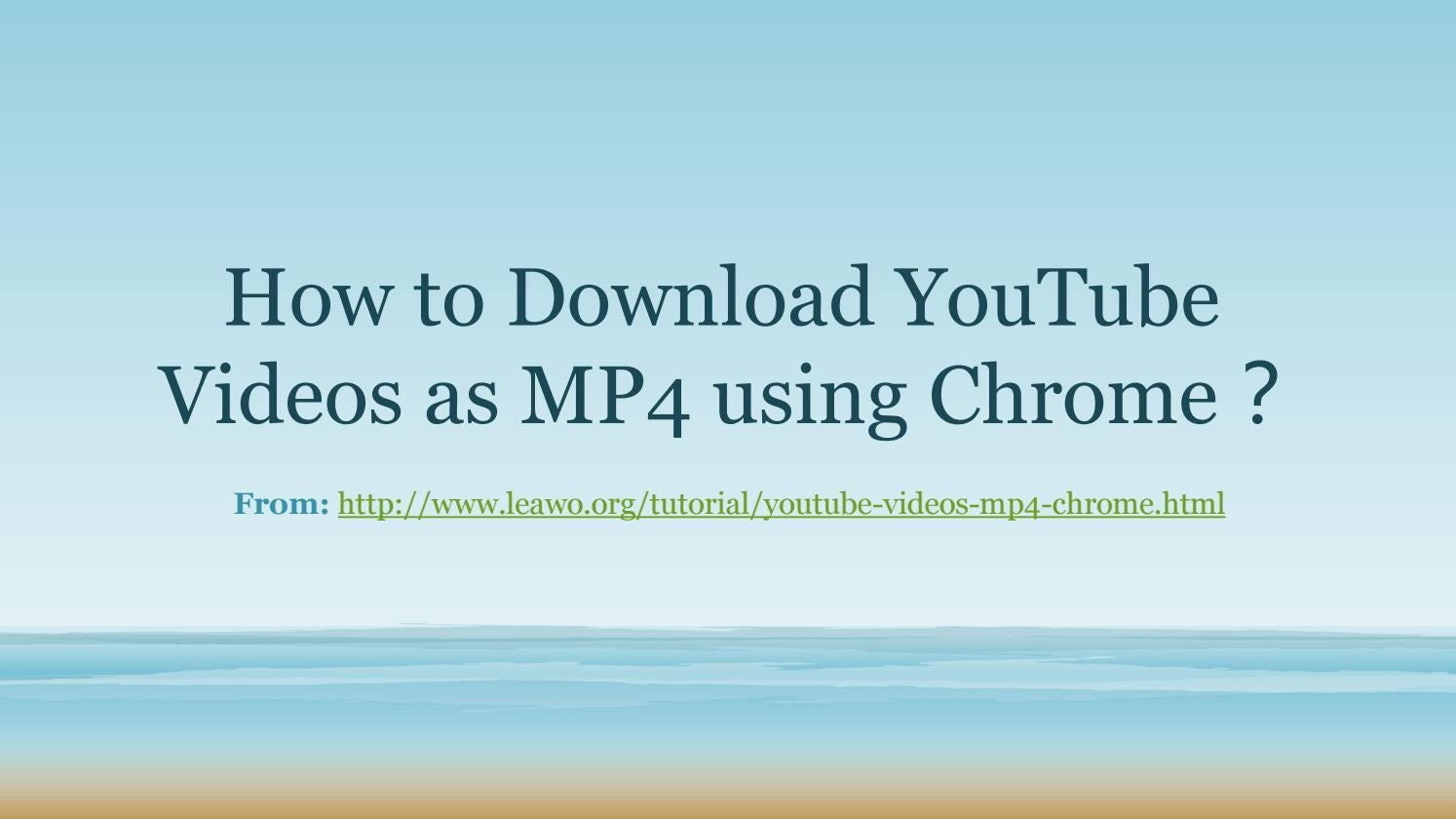download youtube videos mp4 chrome