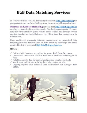 Professional B2B Data Matching Services | B2B Marketing Archives by