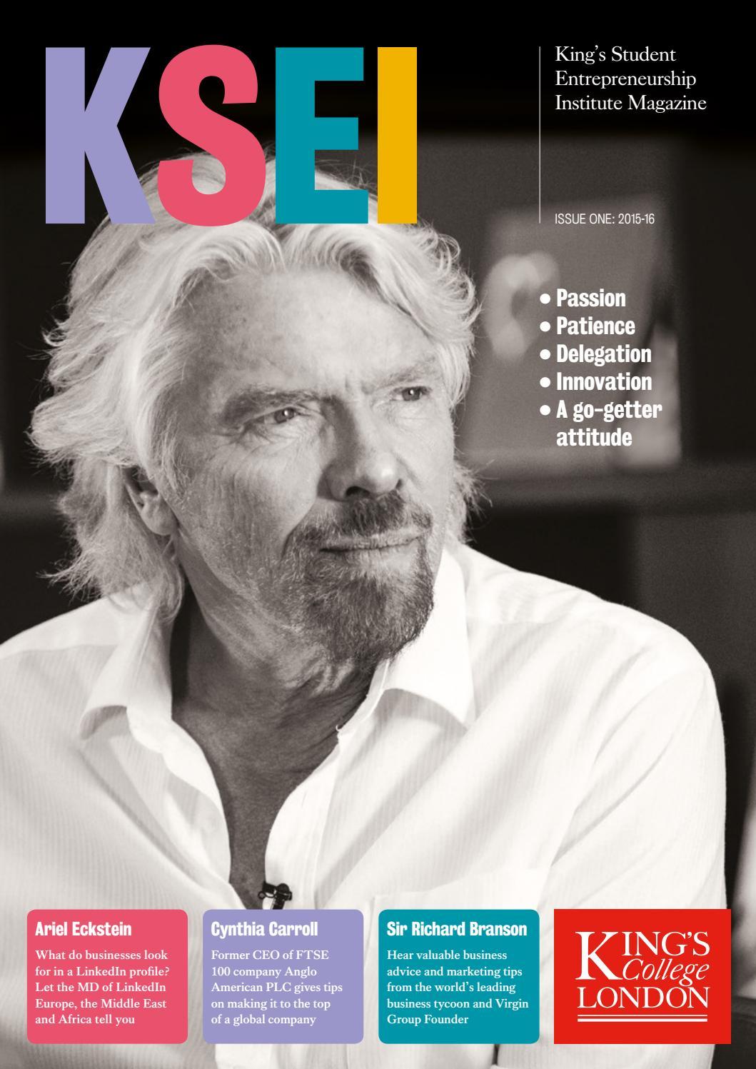 King s student entrepreneurship institute magazine by King s  Entrepreneurship Institute - issuu 043bc74e8bd