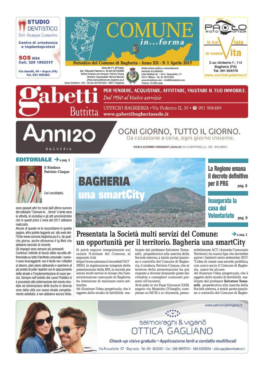 Armonia E Benessere Bagheria comune informa bagheria aprile 2017 by lime edizioni milano