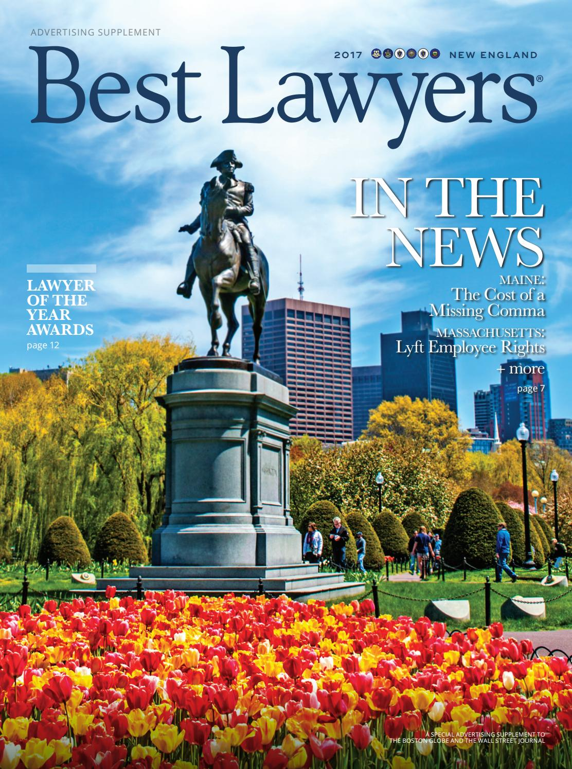 Best Lawyers in New England 2017 by Best Lawyers - issuu