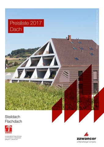 preisliste dach 2017 steildach flachdach pdf by. Black Bedroom Furniture Sets. Home Design Ideas