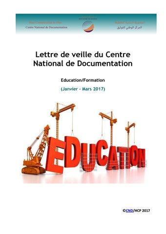 Lettre De Veille Maraacid Education Formation Janvier Mars 2017 By