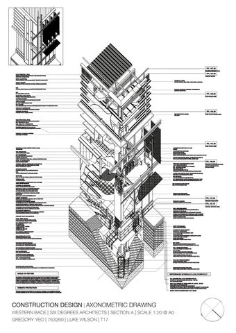 Construction Design Axonometric Drawing Western Bace