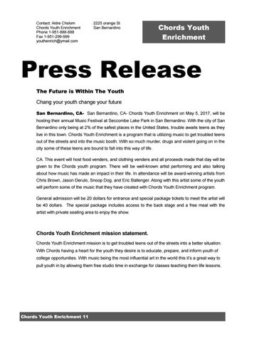 Press Release By Aldre Chislom Issuu