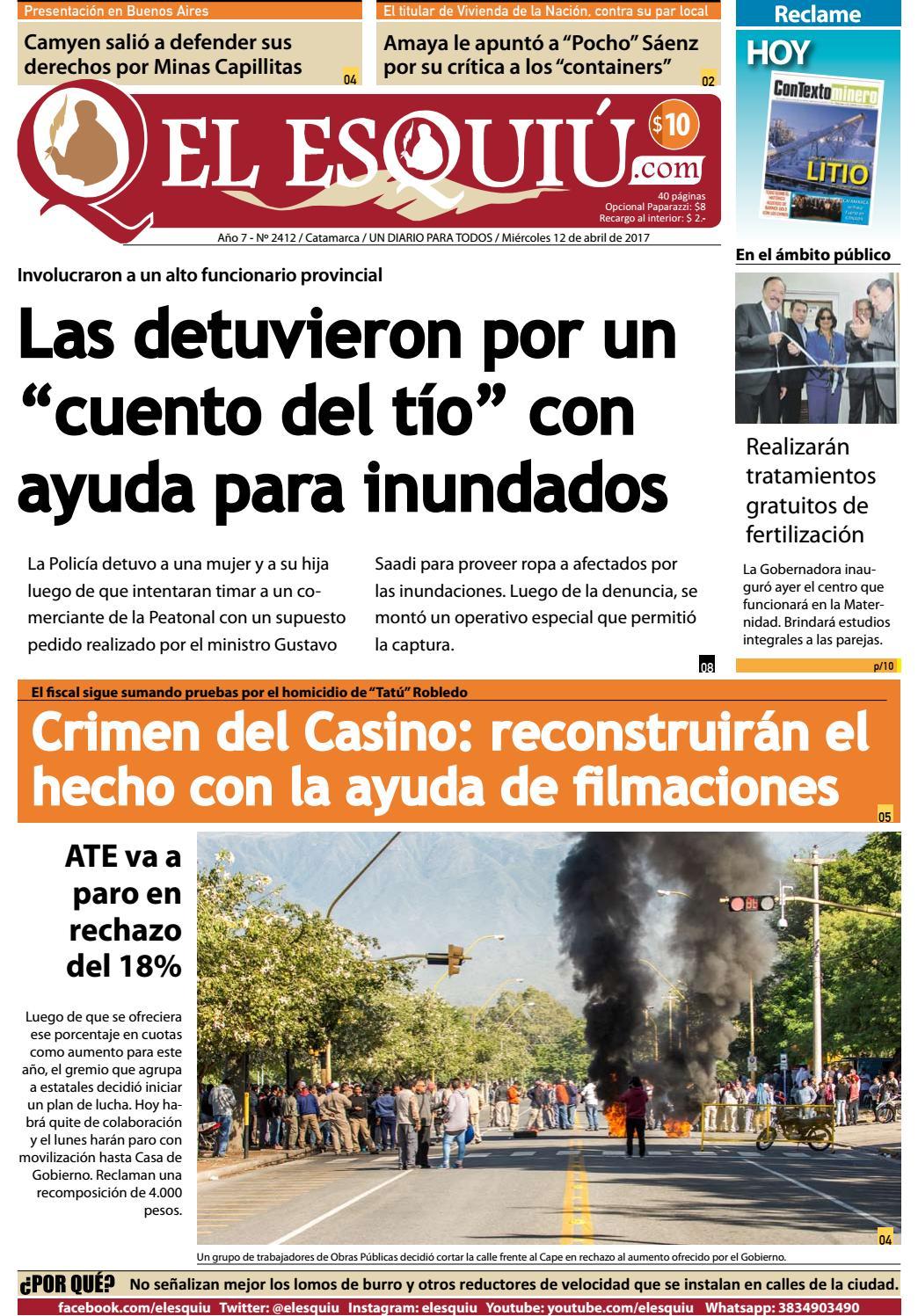 El Esquiu Com Mi Rcoles 12 De Abril De 2017 By Editorial El  # Mateo Muebles Cutral Co