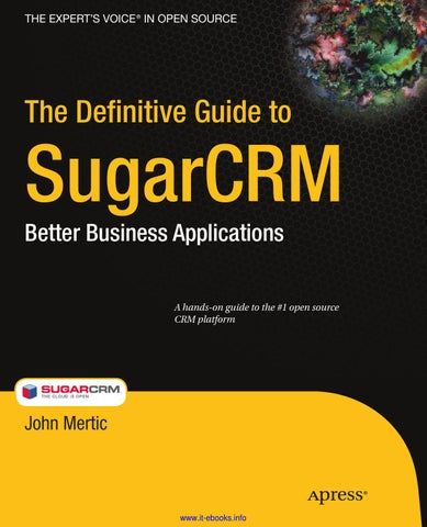 The definitive guide to sugarcrm by martin julia issuu page 1 fandeluxe Gallery