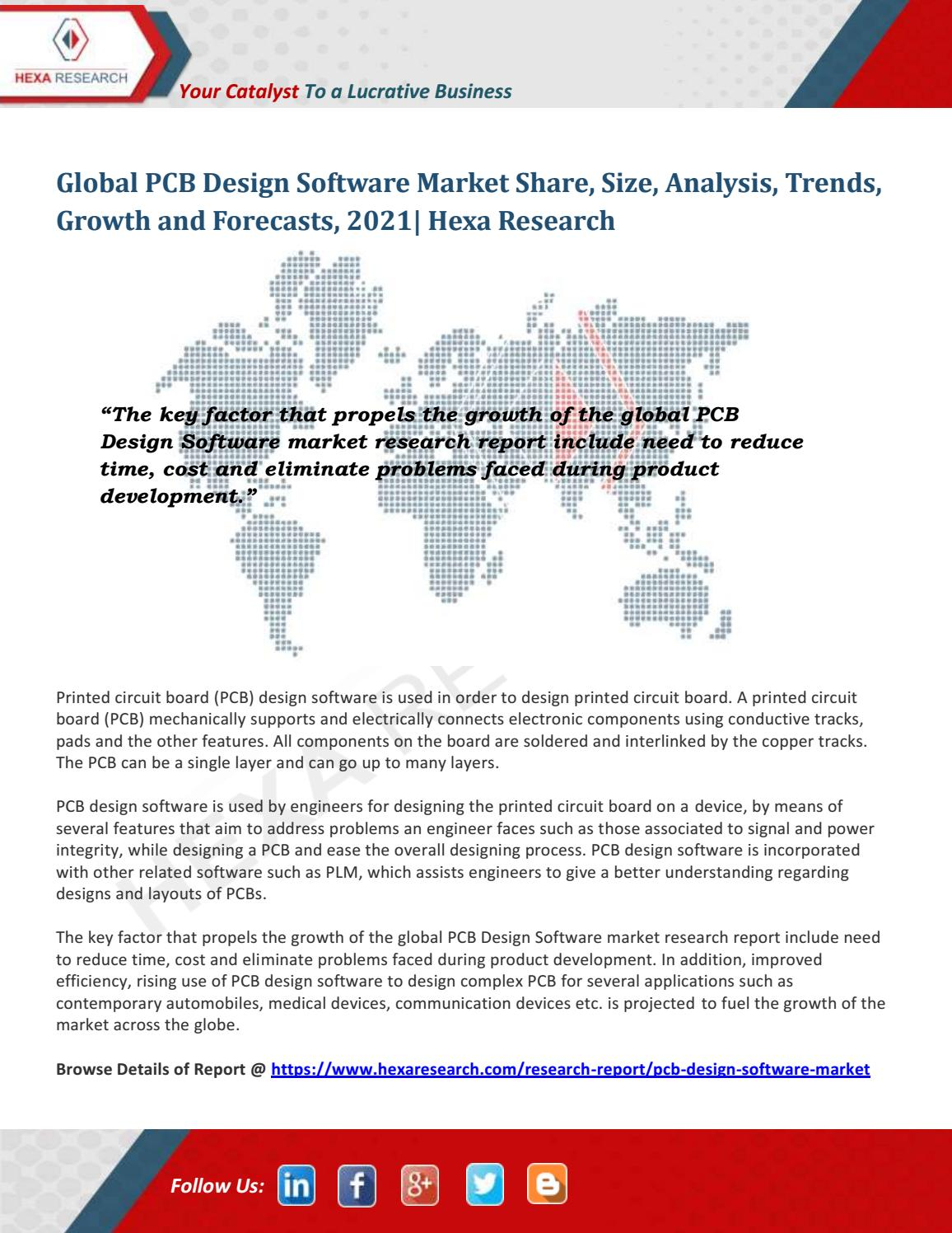 PCB Design Software Market Size, Share, Growth and Forecast to 2021 ...