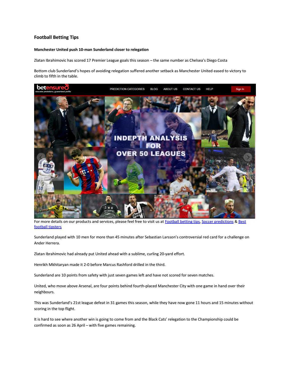 Football betting tips by betensured - issuu