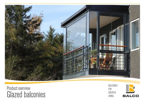 Cover Of Product Overview Glazed Balconies